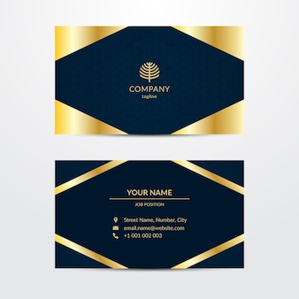Business card template in luxurious style