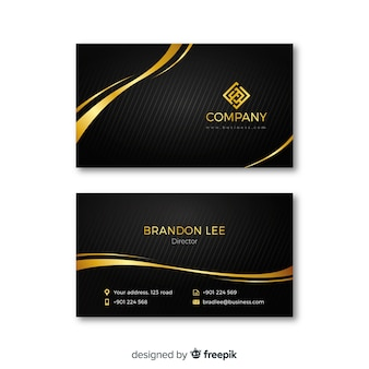 Business card template in luxury style