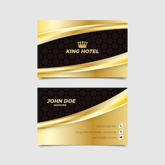Business card template luxury