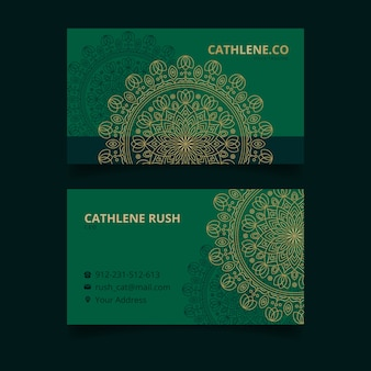 Business card template mandala concept