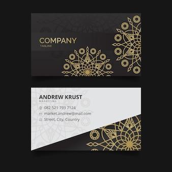 Business card template mandala