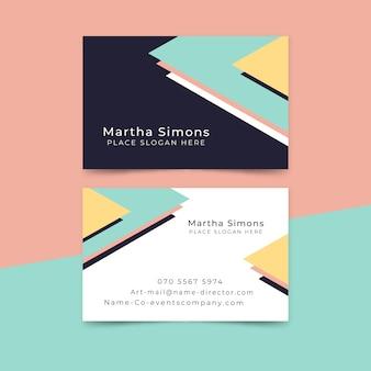 Шаблон визитной карточки минимальный стиль