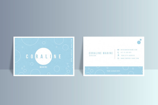 Business card template in minimalist style