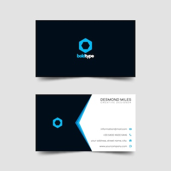 Business card template modern creative and clean