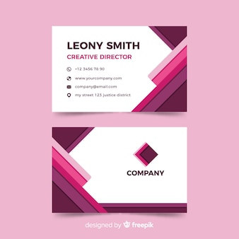 Business card template in monochromatic style