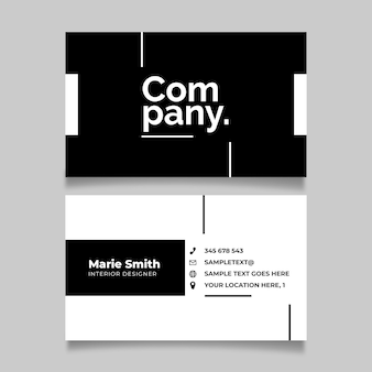 Business card template in monochrome