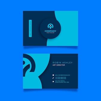Design neumorfo modello di biglietto da visita