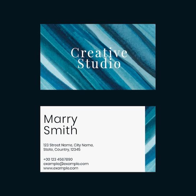 Modello di biglietto da visita ombre acquerello per artisti creativi