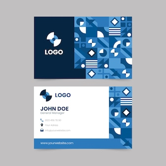 Business card template theme