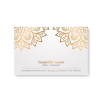 Business card template. vintage decorative elements