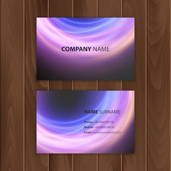 Business card template with abstract colorful background