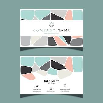 Business card template with an abstract design