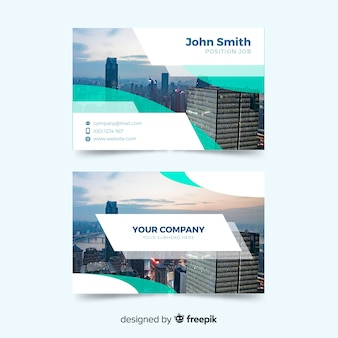 Business card template with abstract design