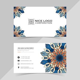 Шаблон визитной карточки с абстрактным цветком