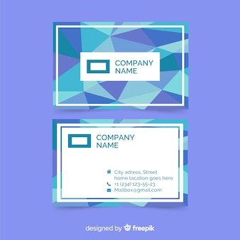Business card template with abstract gradient shapes