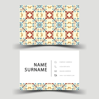 Business card template. with abstract pattern.