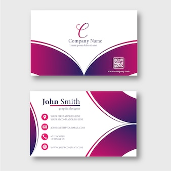 Business card template with abstract rays