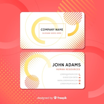 Business card template with abstract shapes with abstract shapes