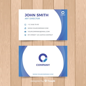 Business card template with abstract shapes
