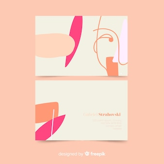Business card template with abstractshapes