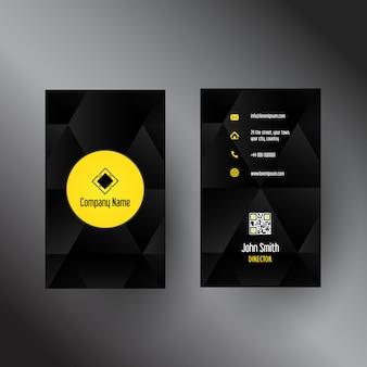 Шаблон визитки с абстрактным дизайном