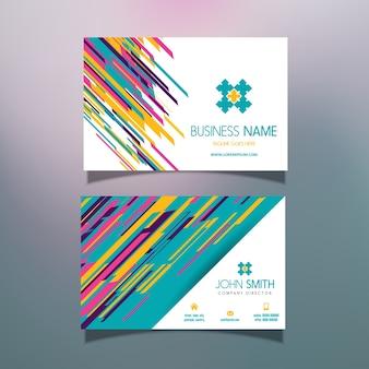 Шаблон визитной карточки с современным абстрактным дизайном