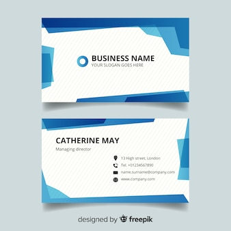 Business card template with company name