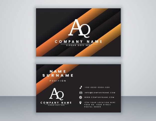 Business card template with elegant element composition  clean concept