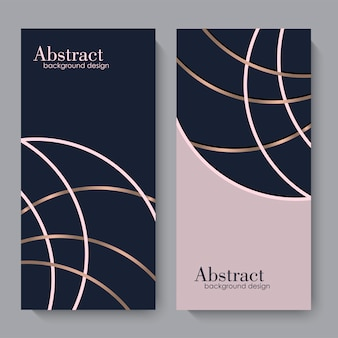 Business card template with geometric elements