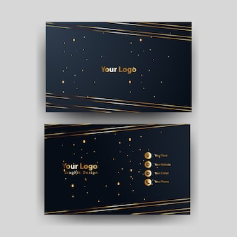 Business card template with gold concept modern