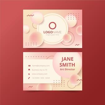 Шаблон визитной карточки с градиентными цветами