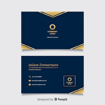 Business card template with luxury design