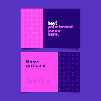 Business card template with minimal style