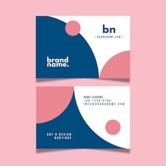 Business card template with minimalist design