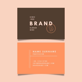 Business card template with minimalist style