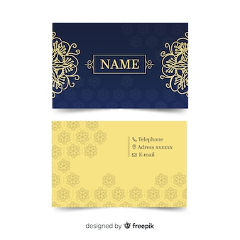 Business card template with modern aspect