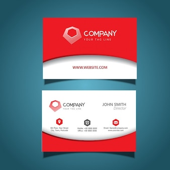 Business card template con un design moderno