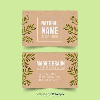 Business card template with nature concept