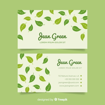 Business card template with nature design