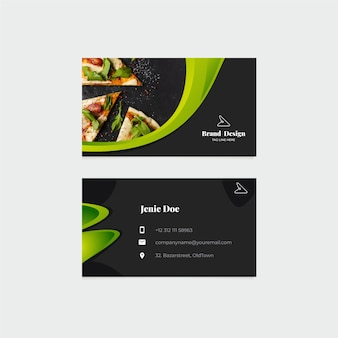 Business card template with photo concept
