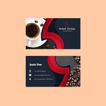 Business card template with photo design
