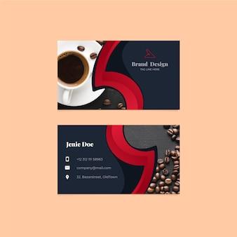 Шаблон визитки с фото дизайном