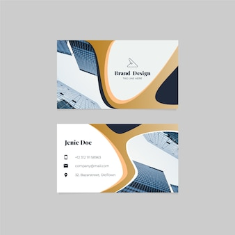Business card template with photo theme