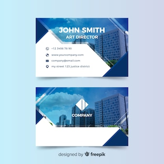Business card template with photo