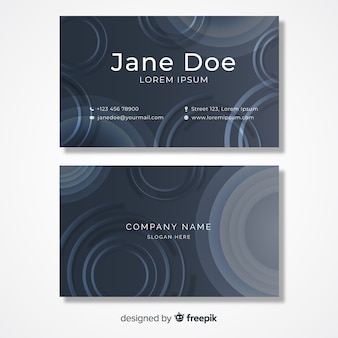 Business card template with round shapes