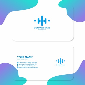 Business card template with simple design