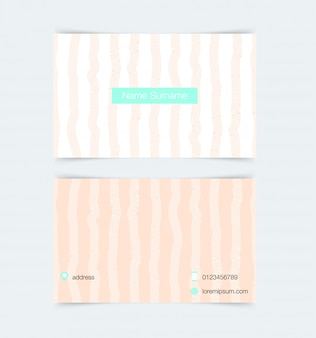 Business card template with simple pattern background