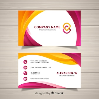 White business card with red details psd file free download business card template flashek