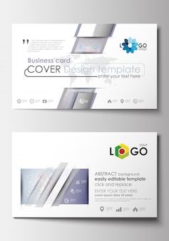 Business card templates. cover design template. molecule structure. science, medical vecto