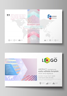 Business card templates. easy editable layout, abstract vector template.